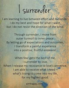 How to Let Go: ... Daily Surrender Quotes