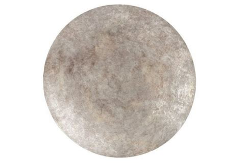 ferro burnished silver disc metal wall hanging small