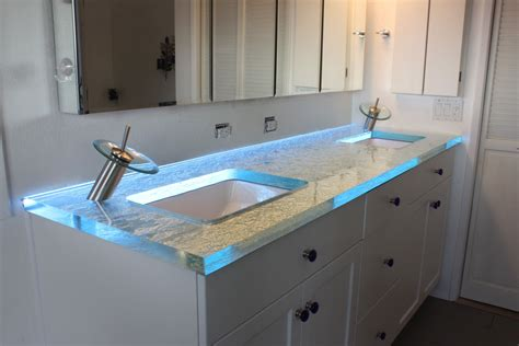 Modern Bathroom Led Lighting by Amazing Glass Bathroom Counter Top From Gravity Glas Led