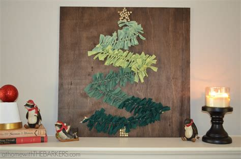 Add merriment to your holiday decor with custom wall art for your home. DIY Christmas Tree Wall Art on Mantel - At Home with The Barkers