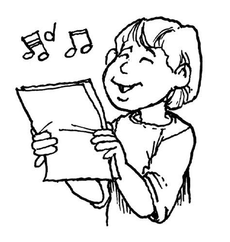 children singing clipart black and white best photos of singing clip black and white children