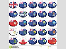British Overseas Territories BOT And Colonies Flags
