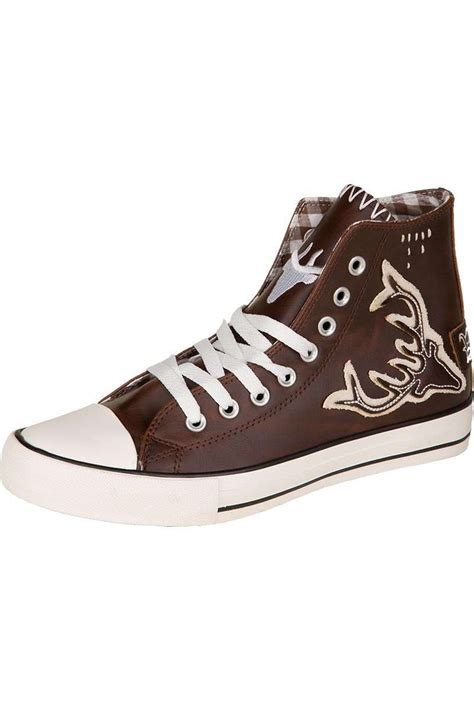 Trachten Sneaker Leder im Chucks Stil 'Hirsch