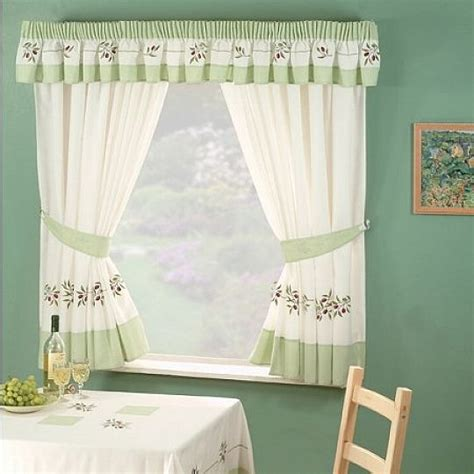 Kitchen Curtains Design Ideas by Green Color Design Kitchen Curtains Ideas Home Design