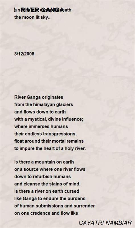 river ganga poem  gayatri nambiar poem hunter