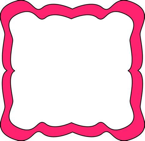 clipart frame pink curvy frame free clip frames