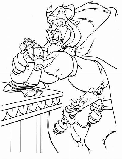 Beast Beauty Coloring Pages Disney Coloringcolor Colouring