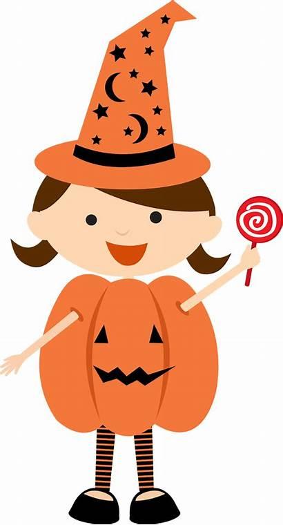 Halloween Clipart Costume Children Clip Minus Dressed