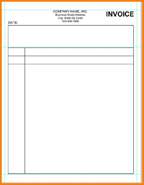 Blank Invoice Template Blank Invoice Print Email