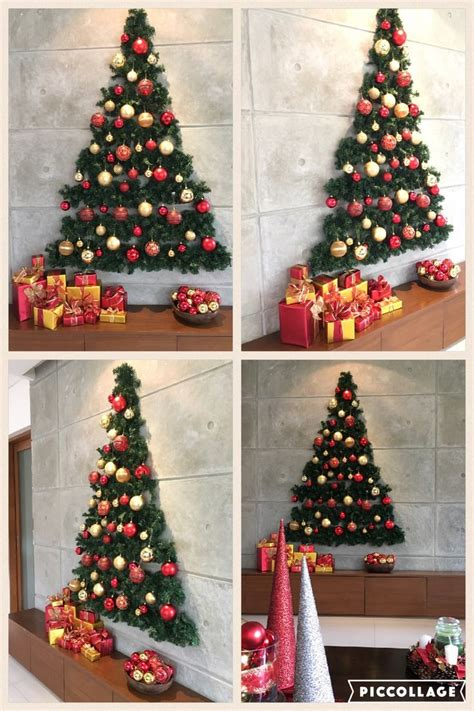 wall christmas tree ideas  pinterest
