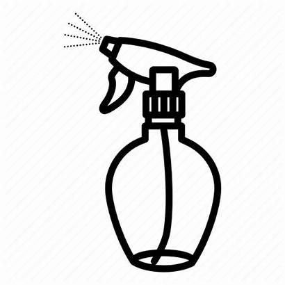 Spray Water Shower Barber Icon Hairdresser Haircutter