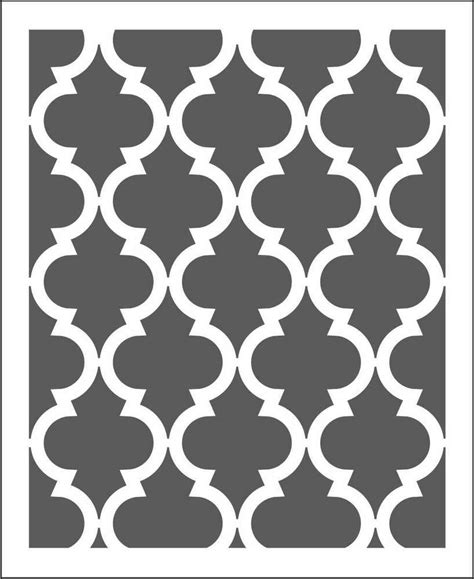 Muster Schablonen by Moroccan Wall Stencil Pattern Choose Size Large