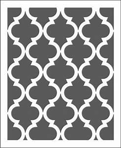 Reusable Wall Stencil Pattern Moroccan  Choose Size Hole