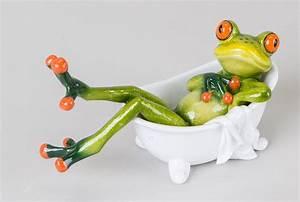 Frosch Als Haustier : einrichten24 eine gute entscheidung dekofigur lustiger frosch in einer badewanne 16 cm ~ Buech-reservation.com Haus und Dekorationen