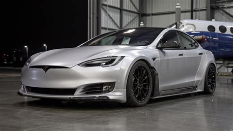 Tesla Model S News by It S A Tesla Model S With A Carbon Widebody Kit Top Gear