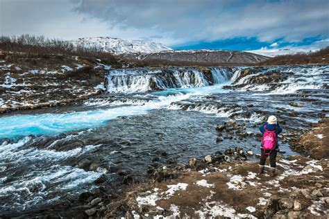 Bruarfoss Or The Bridge Waterfall Is Hidden In South Iceland