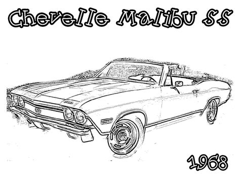 Awesome Classic Car Coloring Pages Printable Printable