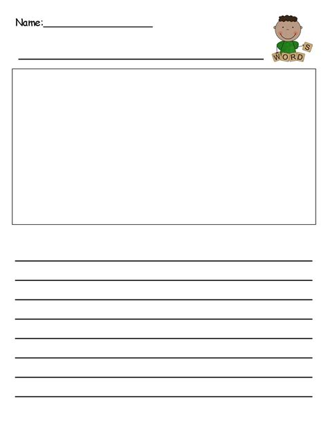 Template Writing Paper Kindergarten  Best Photos Of