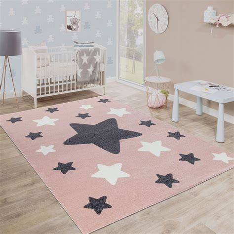 tappeto grande per bambini tappeto per cameretta stella rosa tapetto24