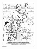 Coloring Primary Lds Mormon Priesthood Clipart Craftedhere Baptism Lesson Covenants Ordinances Afkomstig Baptismal Disimpan Dari sketch template