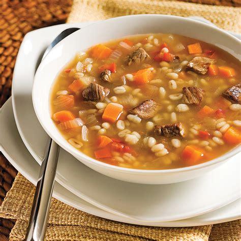 cuisine boeuf soupe boeuf et orge recettes cuisine et nutrition