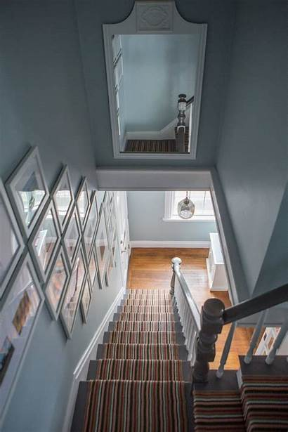 Staircase Hallway Mirror Stairway Above Decorating Mirrors