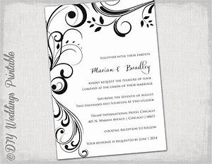 wedding invitation templates black and white quotscroll With wedding invitations you can edit