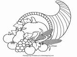 Cornucopia Coloring Thanksgiving Pages Clipart Printable Outline Clip Turkey Printables Kindergarten Activity Blessing Popular Happy Getcoloringpages Coloringhome sketch template