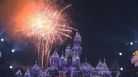 disneyland  years eve fantasy   sky fireworks