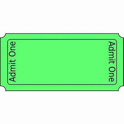 Ticket Clip Clipart Raffle Tickets Template Blank