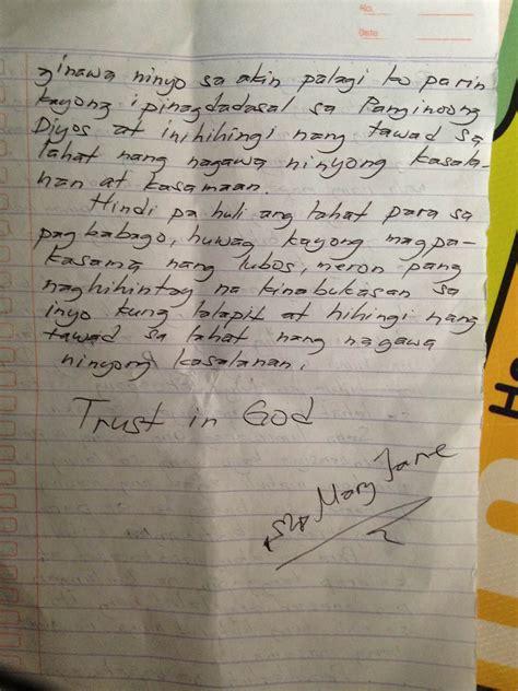 filipino resignation letter tagalog sample unixpaint