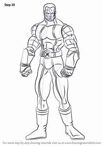 learn how to draw colossus dc comics step by step
