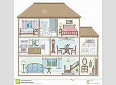 House clipart cross section Pencil and in color house