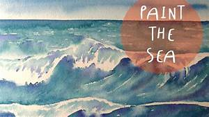 Watercolour tutorial how to paint SEA waves * ART Tv by Fantasvale YouTube