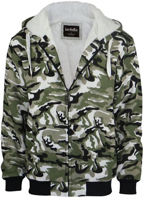 wholesale mens fleece hoodie  sherpa lining camo sku  dollardays