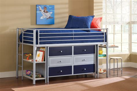 loft bunk bed with desk furniture metal loft bunk bed with desk and corner