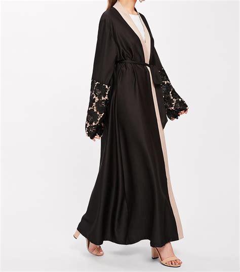 abaya brod 233 e noir abaya moderne pour femme musulmane
