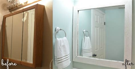 how to frame a medicine cabinet mirror the creepy bathroom remodel u create