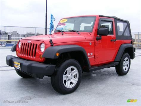 2007 Flame Red Jeep Wrangler X 4x4 #26595702
