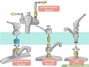 Fixing Leaky Faucet Kitchen Sink by How To Fix A Leaky Faucet With Pictures Wikihow