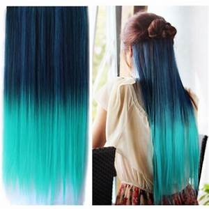 Uniwigs® Ombre Dip-dye Color Clip in Hair Extension 60cm ...