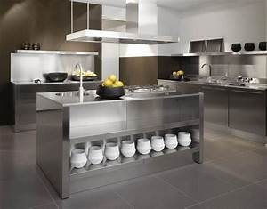 Modern Metal Kitchen Island — Home Ideas Collection