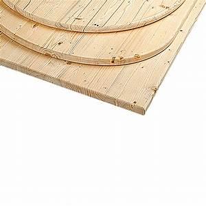 Tischplatte Rund 90 Cm : tischplatte durchmesser 90 cm st rke 2 8 cm fichte rund bauhaus ~ Bigdaddyawards.com Haus und Dekorationen