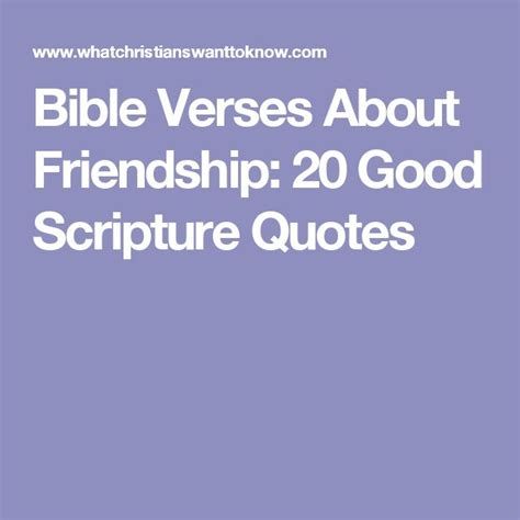 The 25+ Best Bible Verses About Friendship Ideas On