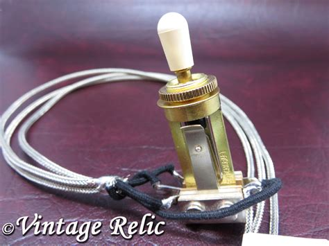 Pre Wired Switchcraft Way Switch Gold Vintage