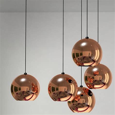 tom dixon copper l suspension boules copper shade