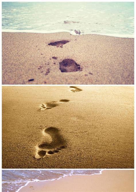 沙滩脚印足迹PPT背景图片 - 彩虹办公