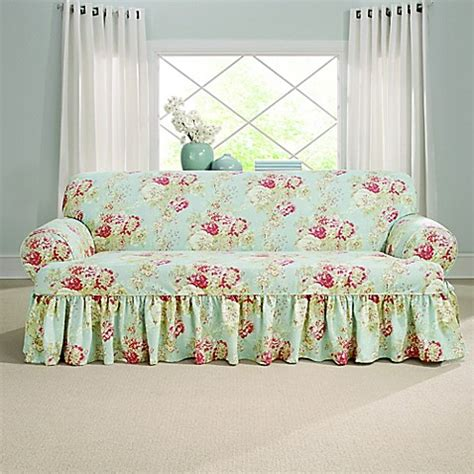 Slipcovers For Couches With Cushions by Sure Fit 174 Ballad Bouquet By Waverly T Cushion Sofa