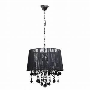 Lustre Metal Noir : lustre pampille m tal abat jour fil noir 5 clairages luminaires ~ Teatrodelosmanantiales.com Idées de Décoration