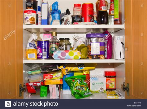Cupboard Food by Open Kitchen Cupboard Cupboards Containing Food Foodstuffs